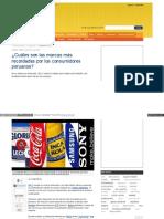 130527 Cuáles son las marcas más recordadas por los consumidores peruanos