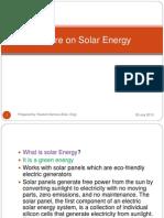 Seminar on Solar Energy