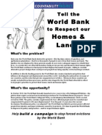 Forced Evictions and the World Bank_background Info
