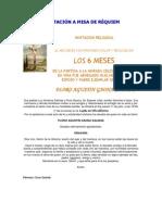 INVITACIÓN A MISA DE RÉQUIEM
