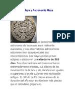 Calendario Maya y Astronomia Maya