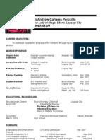 resume long