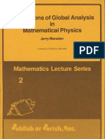 Applications of Global Analysis to Physics - J. Marsden