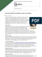 Conjur - Direito na Europa_ Advocacia italiana é investigada por violar concorrência