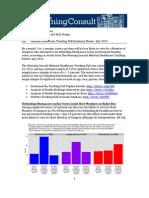 July 2013 Tracking Poll Summary Memo