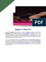 Biodata Datuk Lee Chong Wei