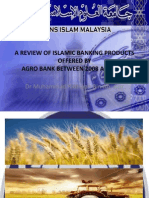 A REVIEW OF ISLAMIC BANKING PRODUCTS OFFERED BY AGRO BANK BETWEEN 2008 AND 2012