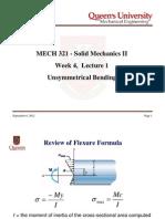MECH321-Week04Lecture1-UnsymmetricalBending