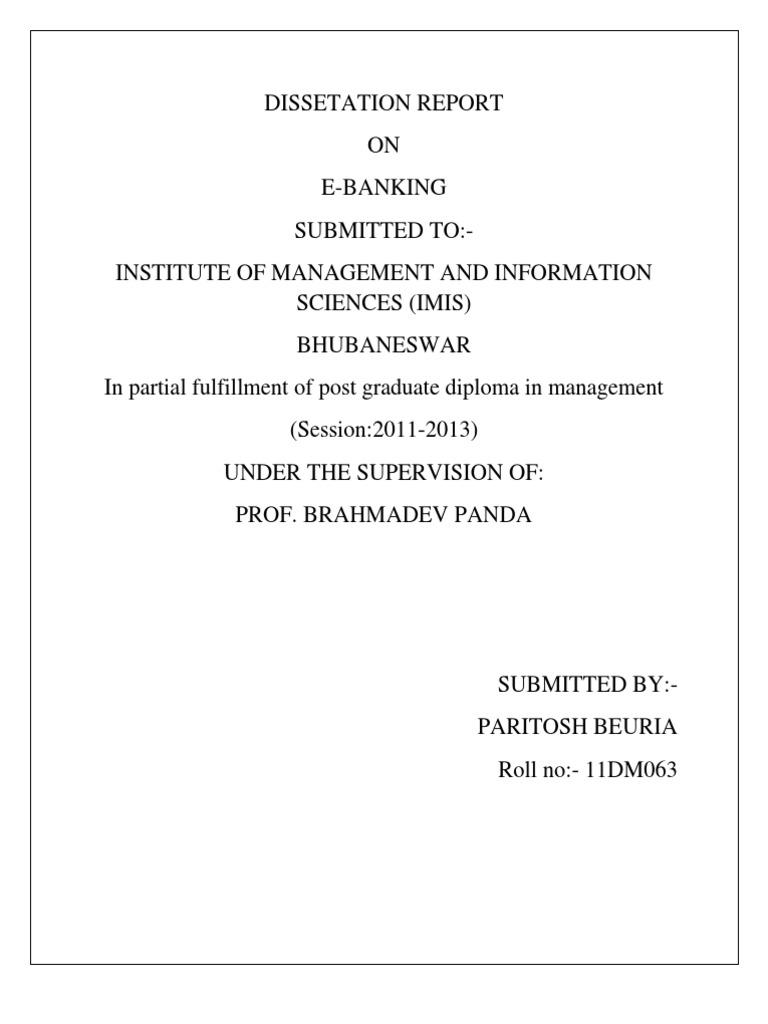 Dissertation internet banking