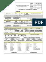 Registro de Accidente de Trabajo Modelo 3