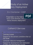 Case Study of an Active Directory Deployment