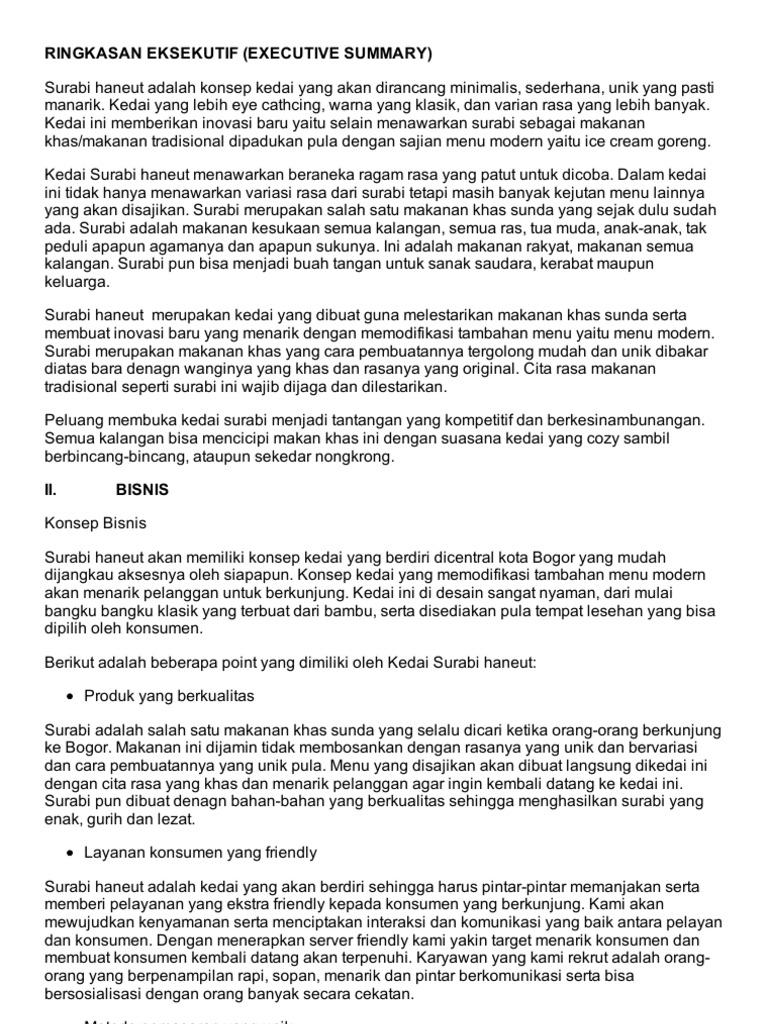 Contoh Proposal Usaha Cafe Ice Cream Berbagi Contoh Proposal