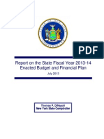 NYS Comptroller Report on Fiscal Year 2013-14