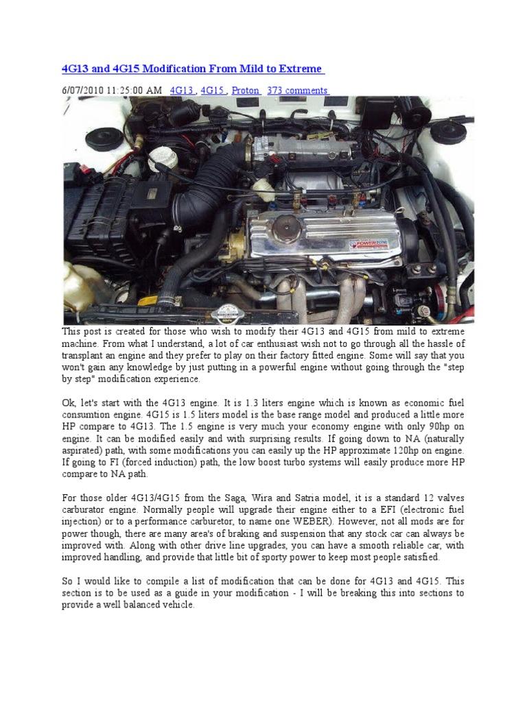 4g13 and 4g15 modification from mild to extreme turbocharger rh es scribd com Mitsubishi Zero Engine Mitsubishi Zero Engine