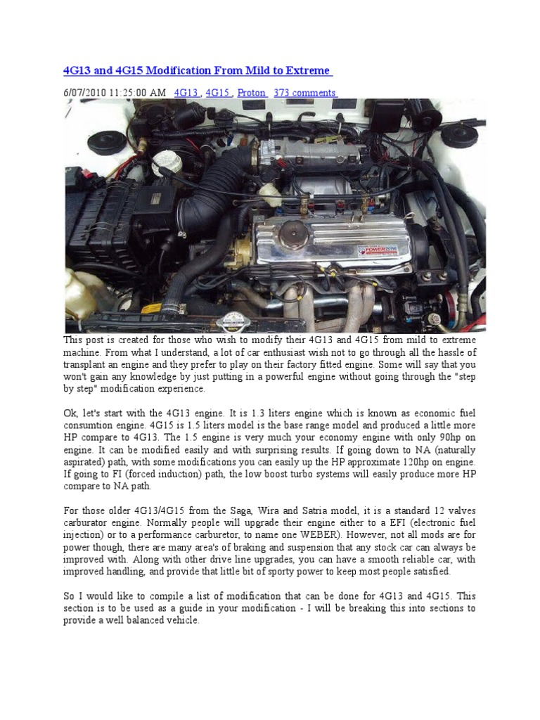 4g13 and 4g15 modification from mild to extreme turbocharger rh scribd com 3SGTE Engine 4G63T Engine