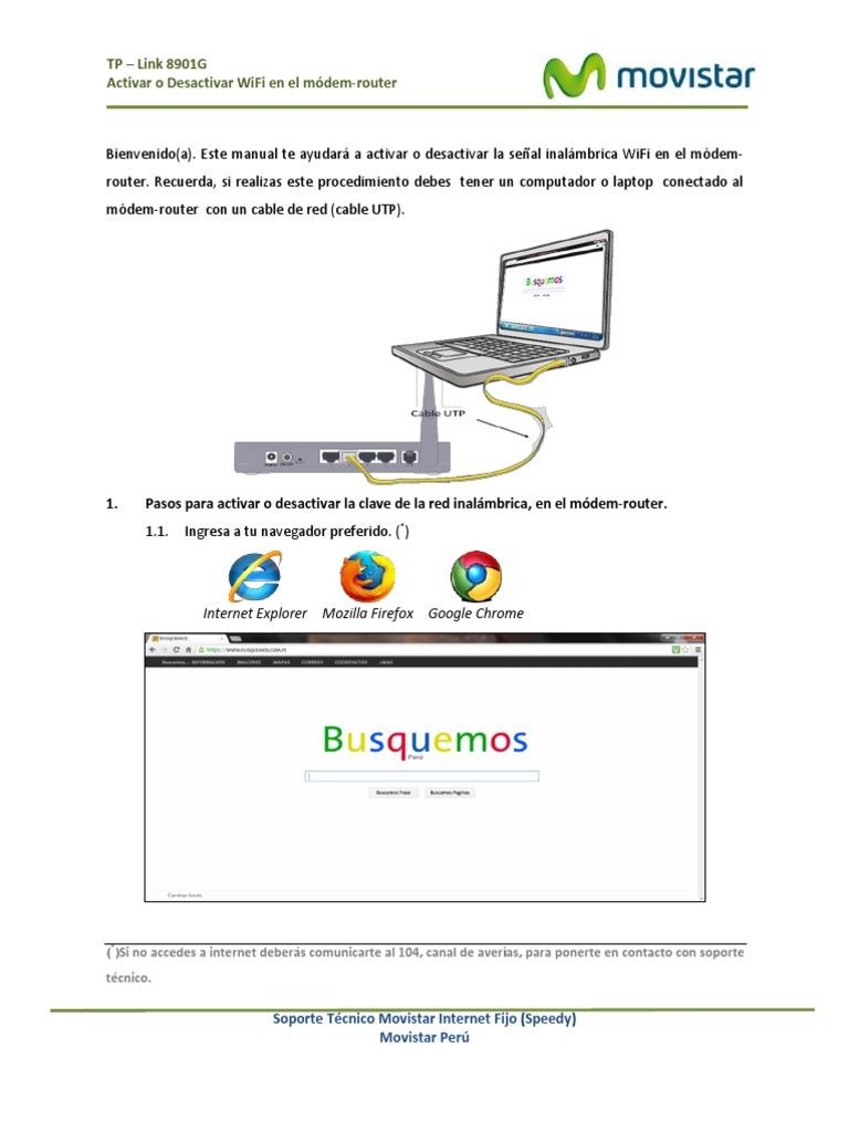 Activar O Desactivar Wifi En El Modem Router