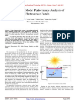 Two-Diode Model Performance Analysis of Photovoltaic Panels