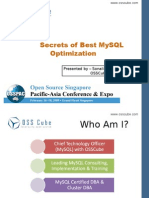 Secrets of MySQL Optimization & Performance Tuning at OSSPAC 2009