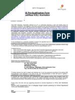 SOP 07-700 Appendix 01 - Contractor's HSE Pre-Qualification Form (BIL)