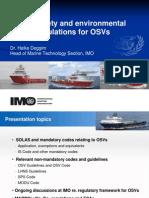 IMO Safety and Environmental Regulations for OSVs - H Deggim