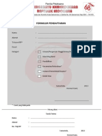 formulir pendaftaran HUT RI Ke 68