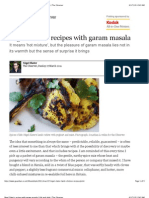 Nigel Slater's Recipes With Garam Masala
