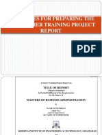 Guidelines for Preparing the Mba Project Report