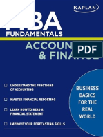 MBA Fundamentals - Accounting & Finance
