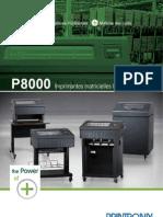 Printronix P8000 Line Matrix Printers Brochure French