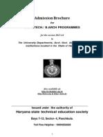 B.tech & B.arch Brochure _2013-2014