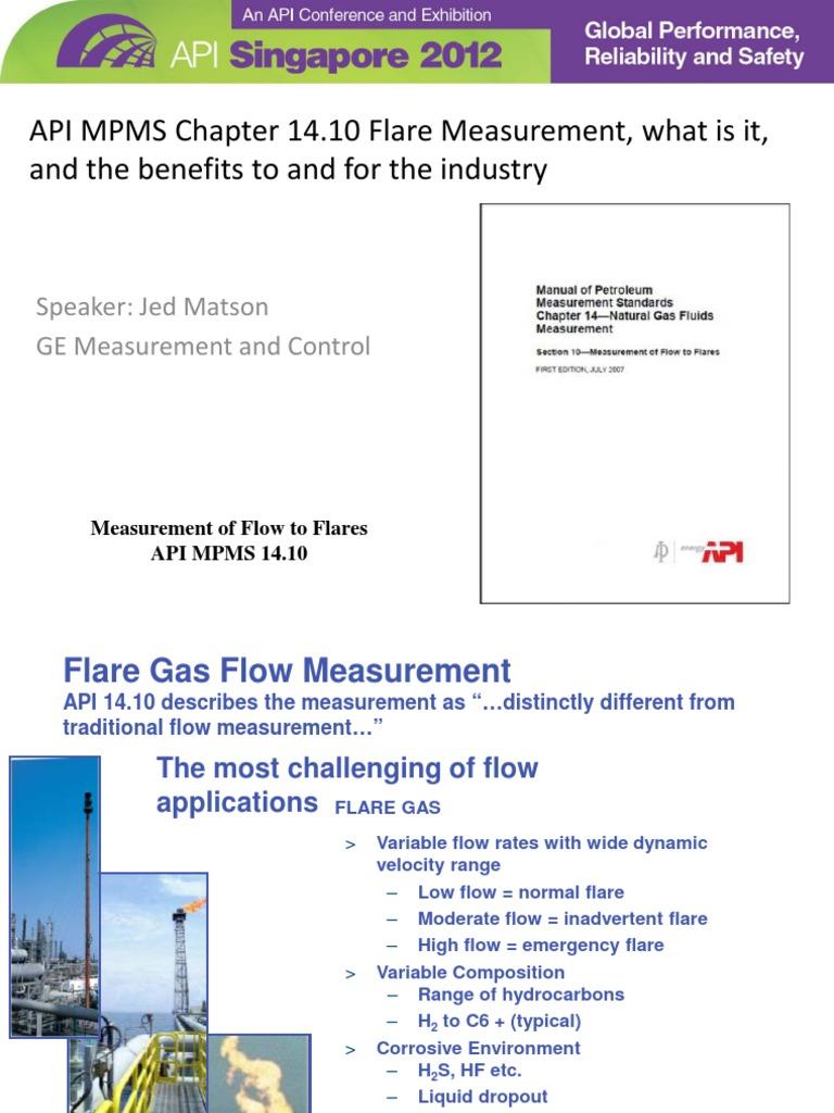 Matson_Jed MPMS Ch. 14.10 Flare Measurement.pdf | Flow Measurement |  Calibration