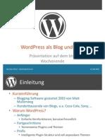 WordPress Als Blog Und CMS-o