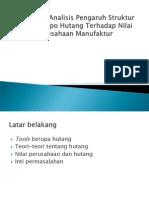 Analisis Pengaruh Struktur Jatuh Tempo Hutang Terhadap Nilai Perusahaan