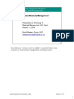 What is Materials Management