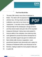 The First World War Transcript