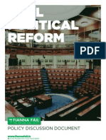 Fianna Fáil Policy Discussion Document - Real Political Reform