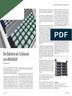 Die Batterie als Schlüssel zur eMobilität, Esch, NEUE MOBILITÄT Jan 2011