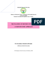 The Teaching of the History of Rwanda, a Participative Approach