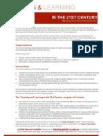 TeachingLearningin21cFlyerStream2.pdf