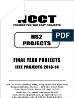 2013 IEEE NS2 Project Titles, NCCT - IEEE 2013 NS2 Project List