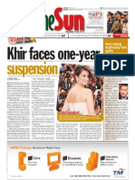 TheSun 2009-05-20 Page01 Khir Faces One-year Suspension