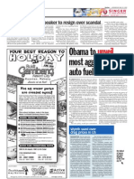 TheSun 2009-05-20 Page08 Obama to Unveil Most Aggresive Auto Fuel Standards