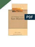 Comenterio Del Libro de Mateo