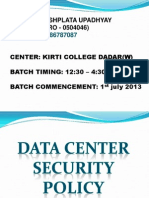 Data Center Security Policy