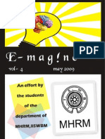 E-magazine of the Department of MHRM, IISWBM, May 2009