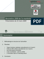 Baromètre 2009 de l'emarketing direct