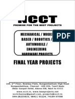 2013-14 Diploma Mechanical & Model Project Titles