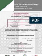 Cursos Lengua Árabe 2013-14