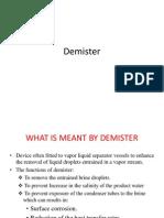 Demister of evaporator