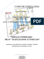 Certificado - Nr 33